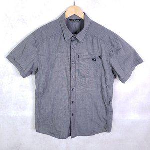Arc'teryx Men's L Gray Cotton Short Sleeve Shirt